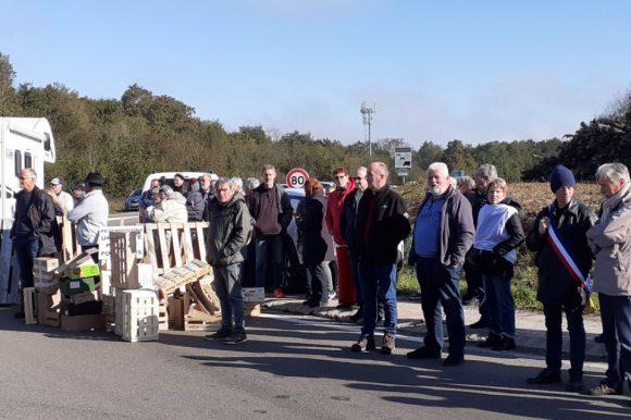 Manifestation de l'association «Bonne route» à Poligny